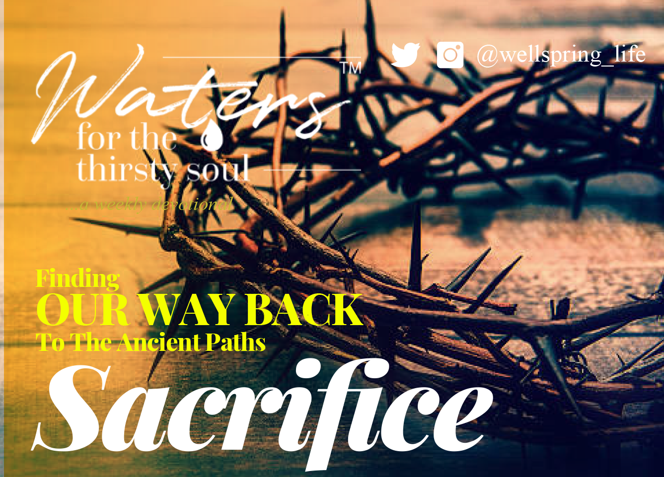 Finding Our Way Back To The Ancient Paths: Sacrifice post thumbnail